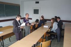 Autorki w dyskusji ze studentami. Fot. V. Tratsiak